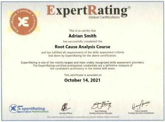 Root Cause Analysis Certification